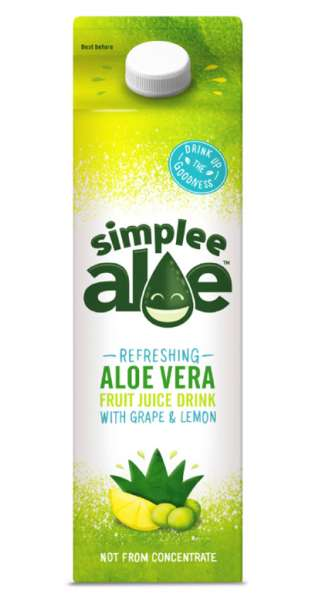simplee Aloe - Aloe Vera Drink, Grape and Lemon, 1l - Tetra-Pak