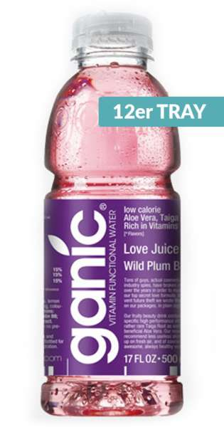 ganic Vitaminwater - Beauty, Love Juice, Wild Plum B8, 500ml - 12 PET-Flaschen