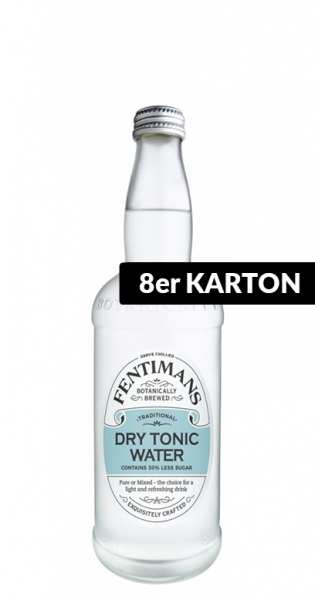 Fentimans - Dry Tonic Water, 0.5l - 8 Glass Bottles