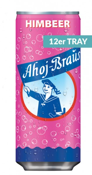 Ahoj Brause Drink - Himbeere, 330ml - 12 Dosen