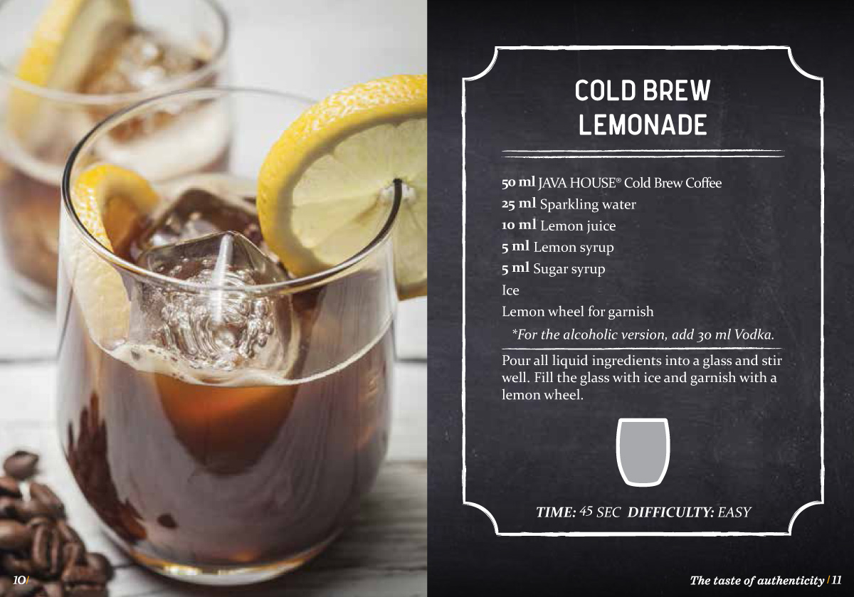 java house - cold brew coffee lemonade