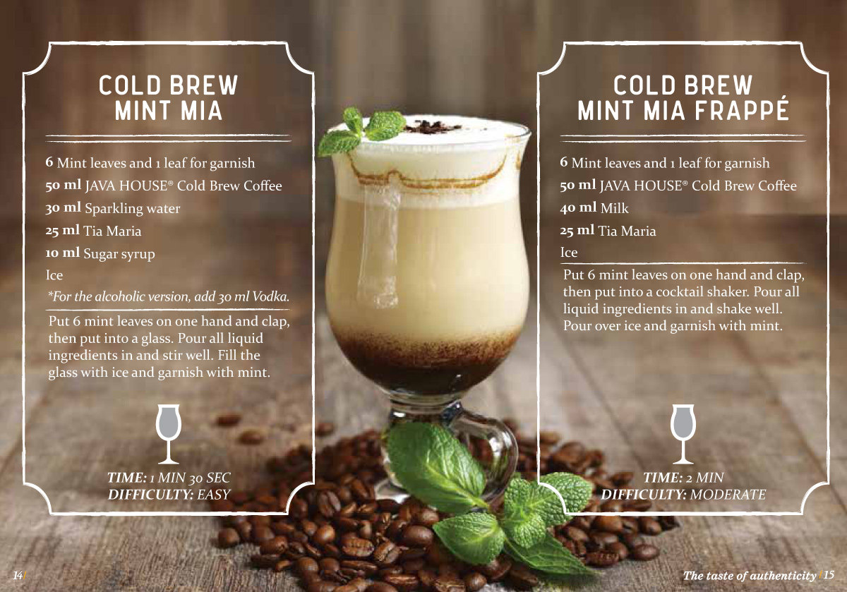 java house - cold brew coffee drinks mint