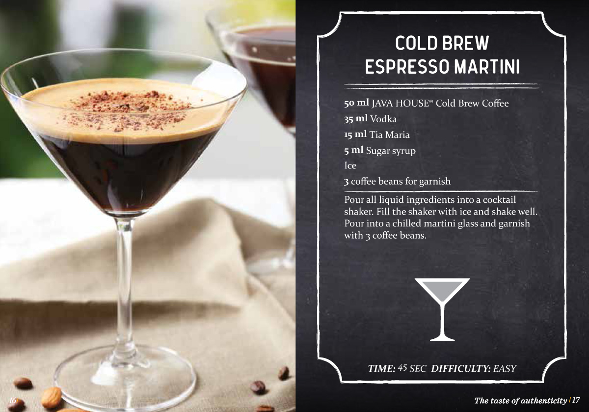 Cold Brew Coffee Martini Drink - Java House