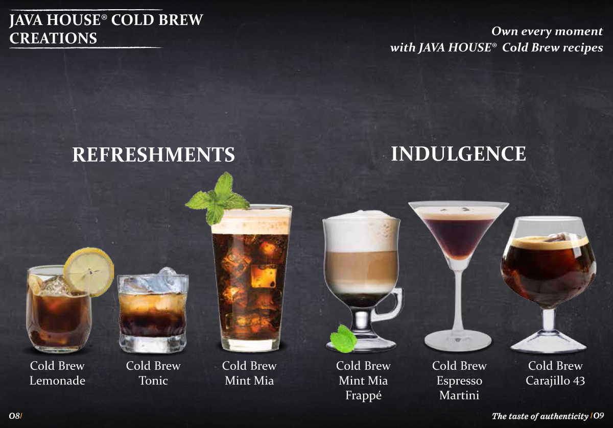 Cold Brew Coffee - Java House Drinks und Cocktails