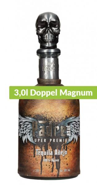 Padre Azul - Tequila Anejo, 3l Doppel Magnum - Flasche im Ledermantel