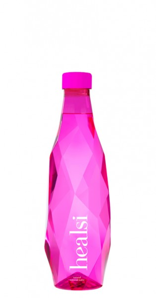 healsi Water - Diamond Bottle, pink, 0.5l - PET Bottle