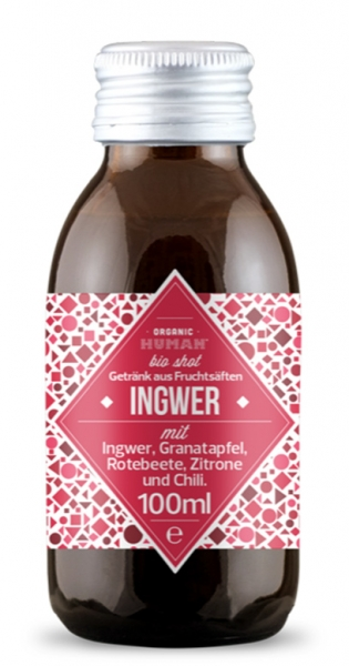 Organic Human - Organic Shot, Ingwer, 100ml (DE-ÖKO-003) - Glas-Flasche
