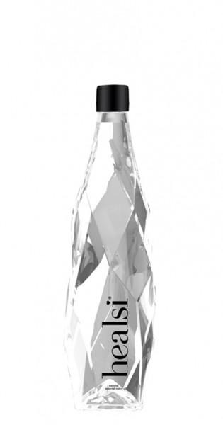 healsi Water - Diamant Flasche, crystal, still, 400ml - Glas-Flasche