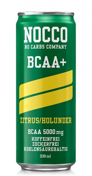 NOCCO BCAA+ - Zitrus, Holunder, 330ml - Dose