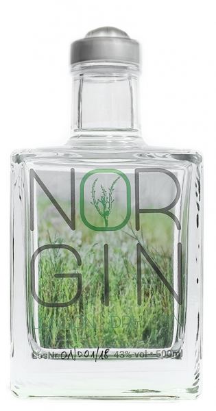 NorGin - Premium London Dry Gin, 500ml - Glas-Flasche
