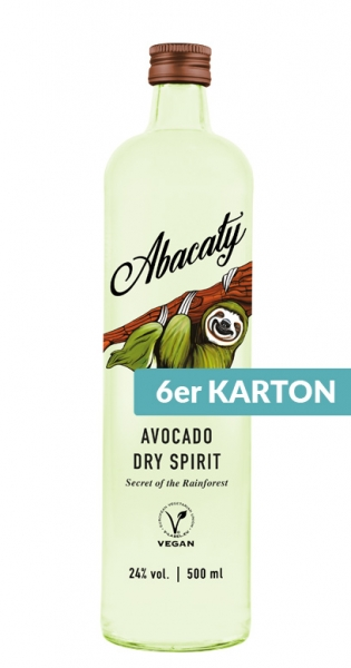 Abacaty - Avocado Dry Spirit, 500ml - 6 Glas-Flaschen