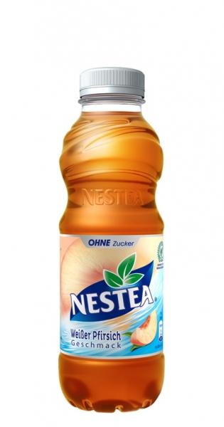 Nestea Ice Tea - Weißer Pfirsich Zero, 500ml - PET-Flasche