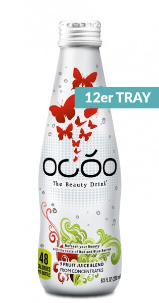 Ocoo - The Beauty Drink, Beauty Berries and beauty-enhancing vital substances, 0.25l - 12 Glass Bottlels