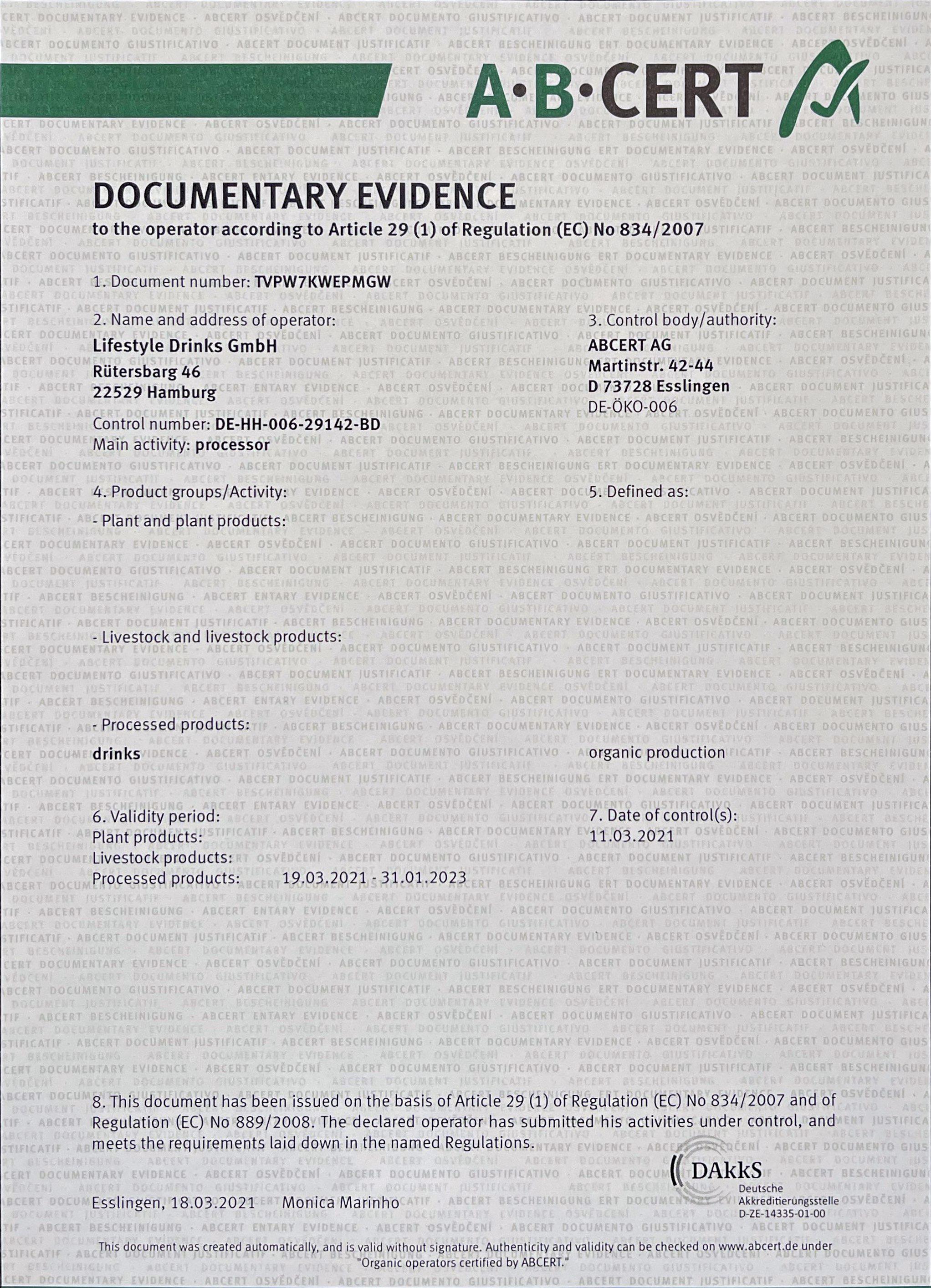 BioZertifizierung-Documentary-Evidence-A-B-Cert