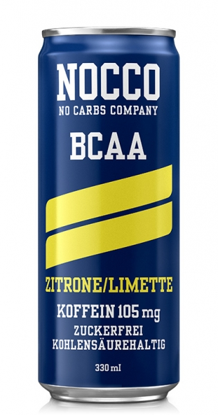 NOCCO BCAA - Lemon, lime, 0.33l - Can