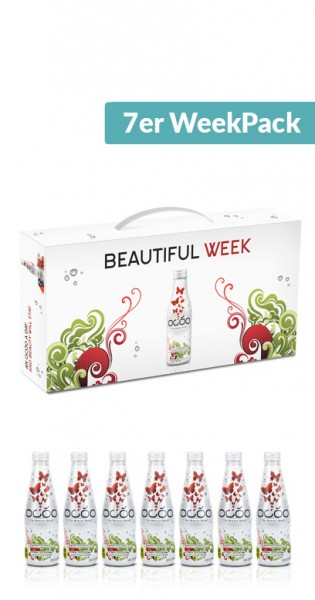 Ocoo - The Beauty Drink, 7pcs. WeekPack, 0.25l - 7 Glass Bottles