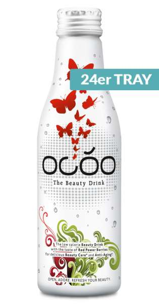 Ocoo - The Beauty Drink, 0,25L - 24 Alu-Flaschen im Tray