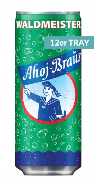 Ahoj Brause Drink - Waldmeister, 330ml - 12 Dosen