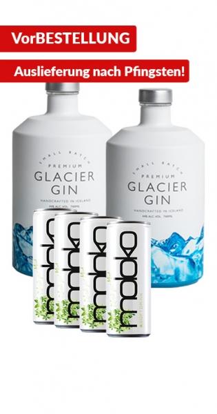 Glacier Gin Bundle - Kaufe 2x Glacier Gin und wir geben 4x Taiberg GRATIS dazu!