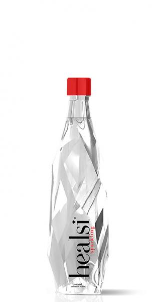 healsi Water - Diamant Flasche, crystal, sparkling, 400ml - Glas-Flasche