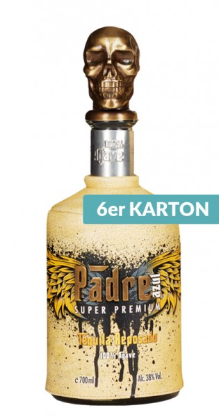 Padre Azul - Tequila Reposado, 700ml - 6 Flaschen mit Ledermaske