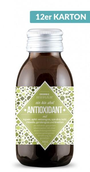 Organic Human - Organic Shot, Antioxidant, 100ml - 12 Glas-Flaschen