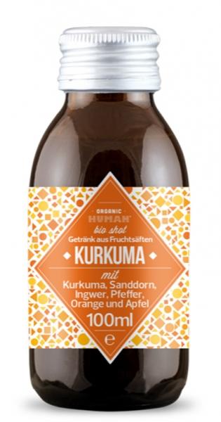 Organic Human - Organic Shot, Curcuma, 0.1l (DE-ÖKO-003) - Glass Bottle