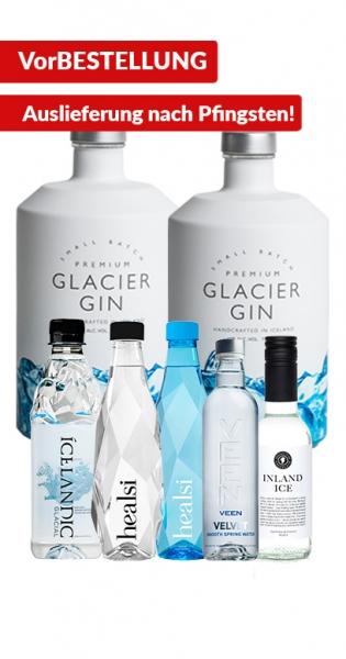 Glacier Gin Bundle - Kaufe 2x Glacier Gin und wir geben 5x Premium Wasser (2x Healsi,1x Icelandic Gl