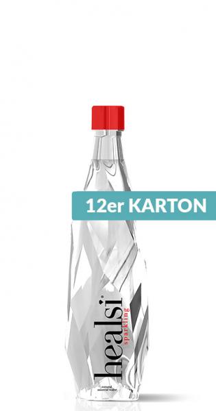 healsi Water - Diamond Bottle, crystal, sparkling, 0.4l - 12 Glass Bottles