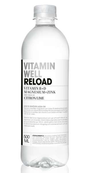 Vitamin Well - Reload, Lemon and Lime, 0.5l - PET Bottle