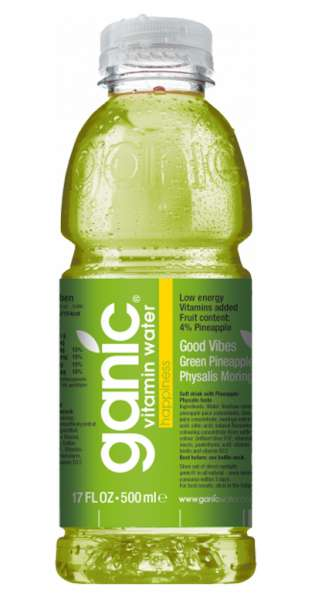ganic Vitaminwater - Good Vibes, Pineapple, Kiwi, Physalis, 500ml - PET-Flasche