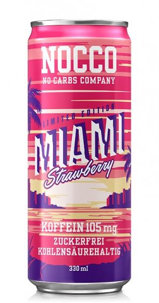 NOCCO BCAA - Miami Strawberry, 330ml - Dose