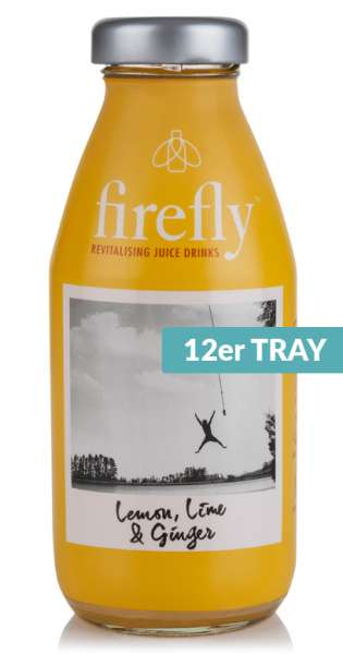firefly - Revitalising Juice Drinks, Lemon, Lime and Ginger, 330ml - 12 Glas-Flaschen