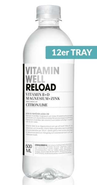 Vitamin Well - Reload, Zitrone und Limette, 500ml - 12 PET-Flaschen