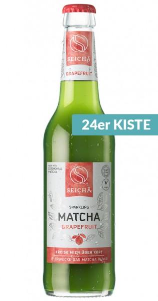 Seicha Matcha Drink - Grapefruit, 330ml - 24 Glas-Flaschen