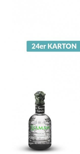 Xiaman - Artisanal Mezcal, 50ml - 24 Glas-Flaschen