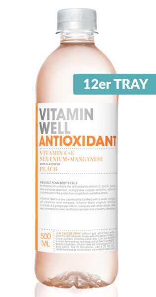 Vitamin Well - Antioxidant, Peach, 0.5l - 12 PET Bottles