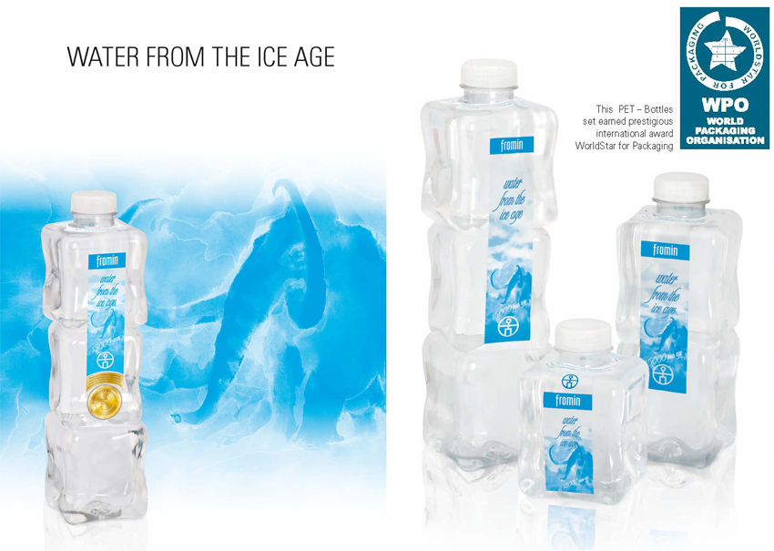 fromin water - purest iceage water