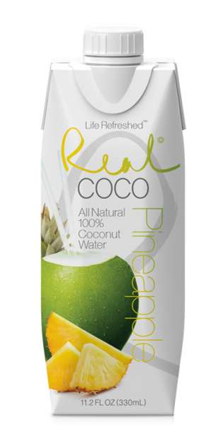 Real Coco - Coconut Water, pineapple, 330ml - Tetra-Pak