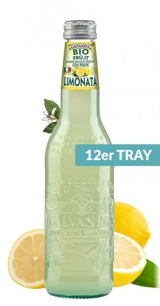 Galvanina - Bio lemonade, Fru it Lemon, 355ml - 12 Glas-Flaschen