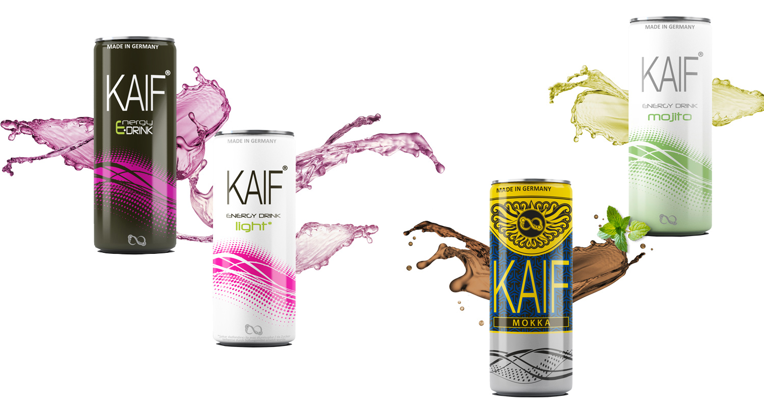 Kaif Energy Drink - Black, Light, Mojito, Mokka