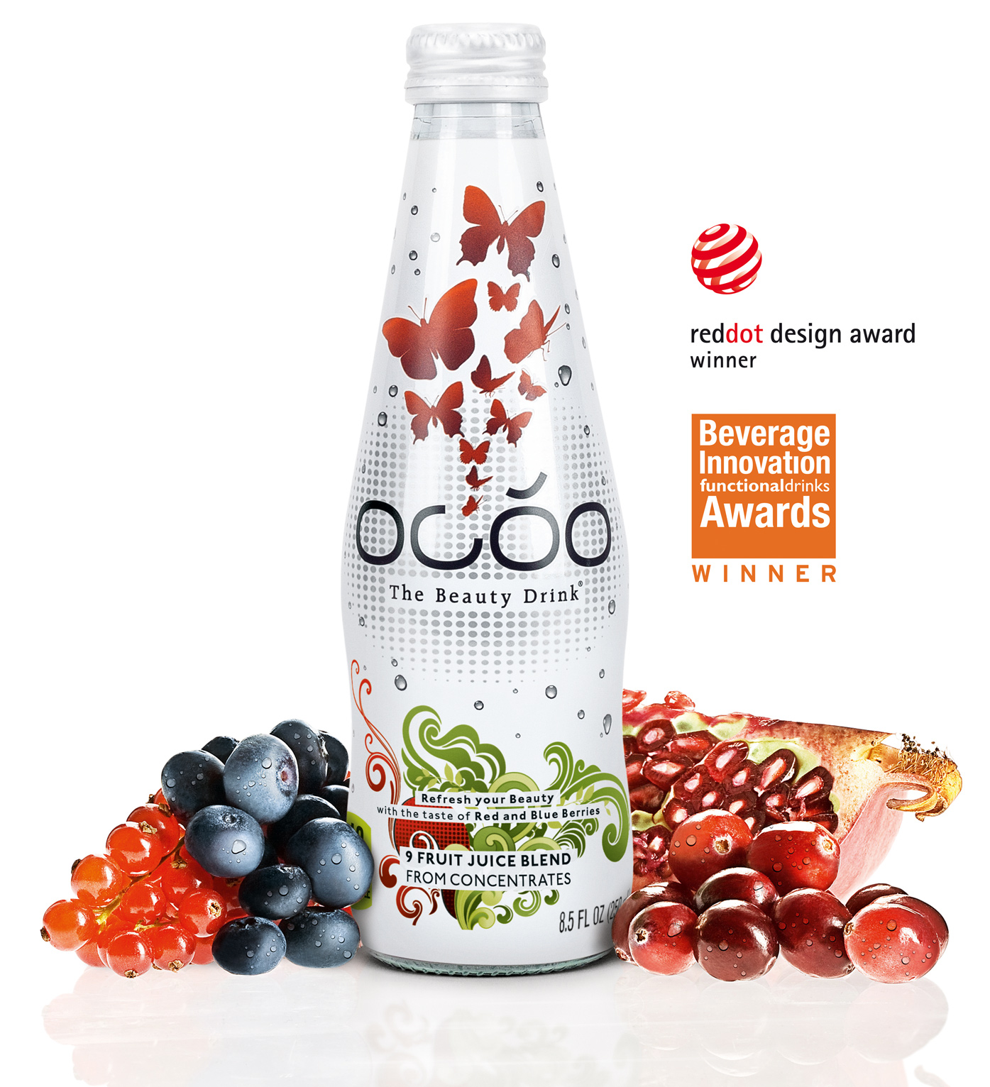 Ocoo - The Beauty Drink - Glasflasche