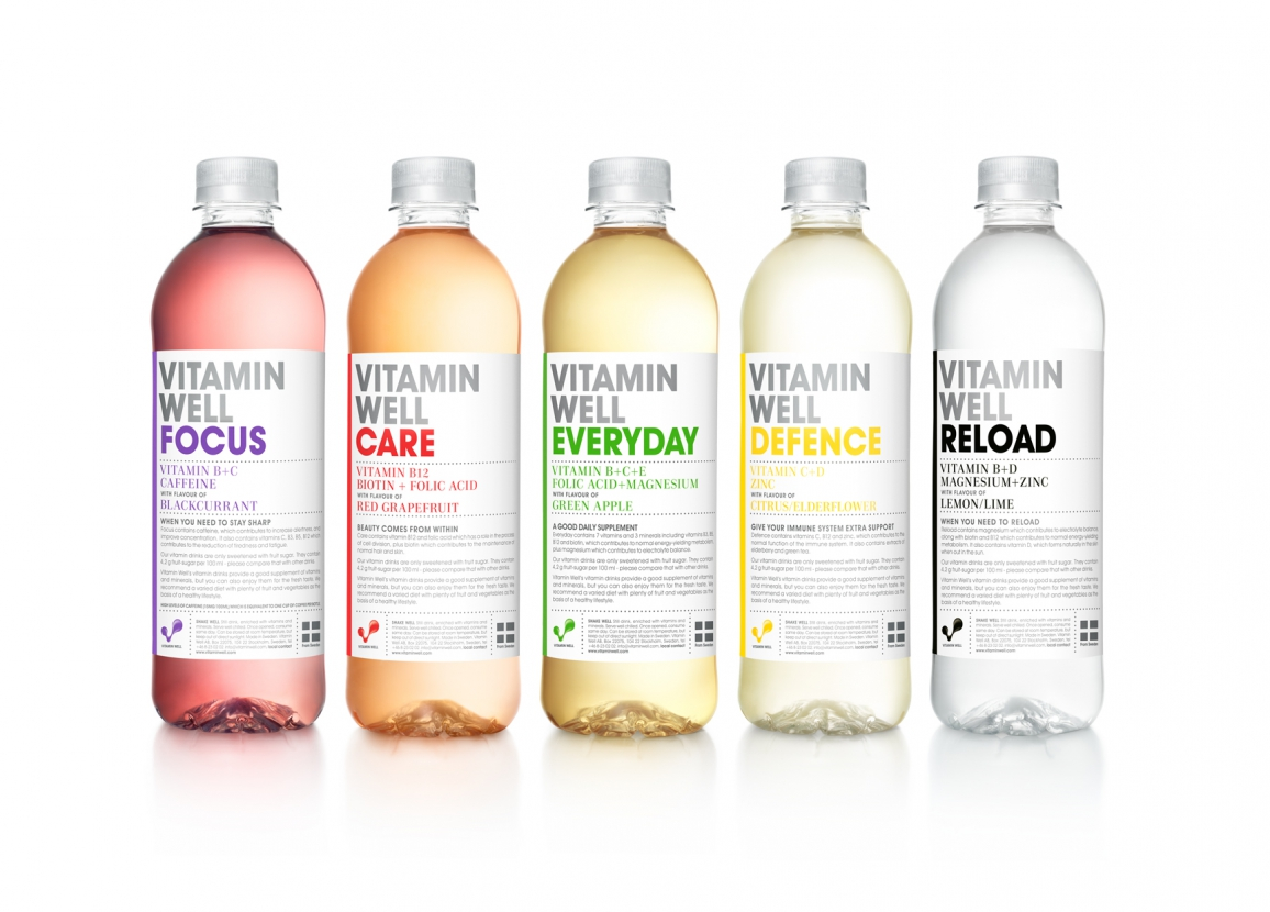 Vitamin Wasser - Vitamin Well: alle Wellness Drinks